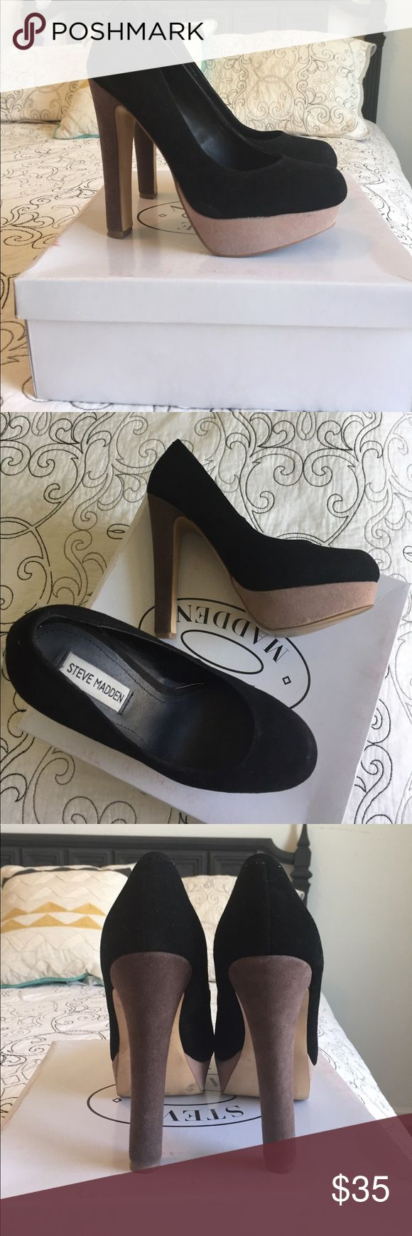 Steve Madden Beasst Pumps Super cute, soft suede, multi-colored heels. Worn twice. Still have box and wrapping. Shoes have never been stored outside of box. Steve Madden Shoes Heels