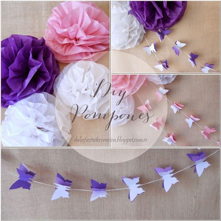 Un paso a paso genial para hacer pompones de papel seda y decorar tus fiestas.