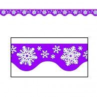 Winter Snowflakes Border Trim Purple & White $2.50 BE50206P
