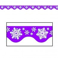 Winter Snowflakes Border Trim Purple & White $2.50 BE50206P