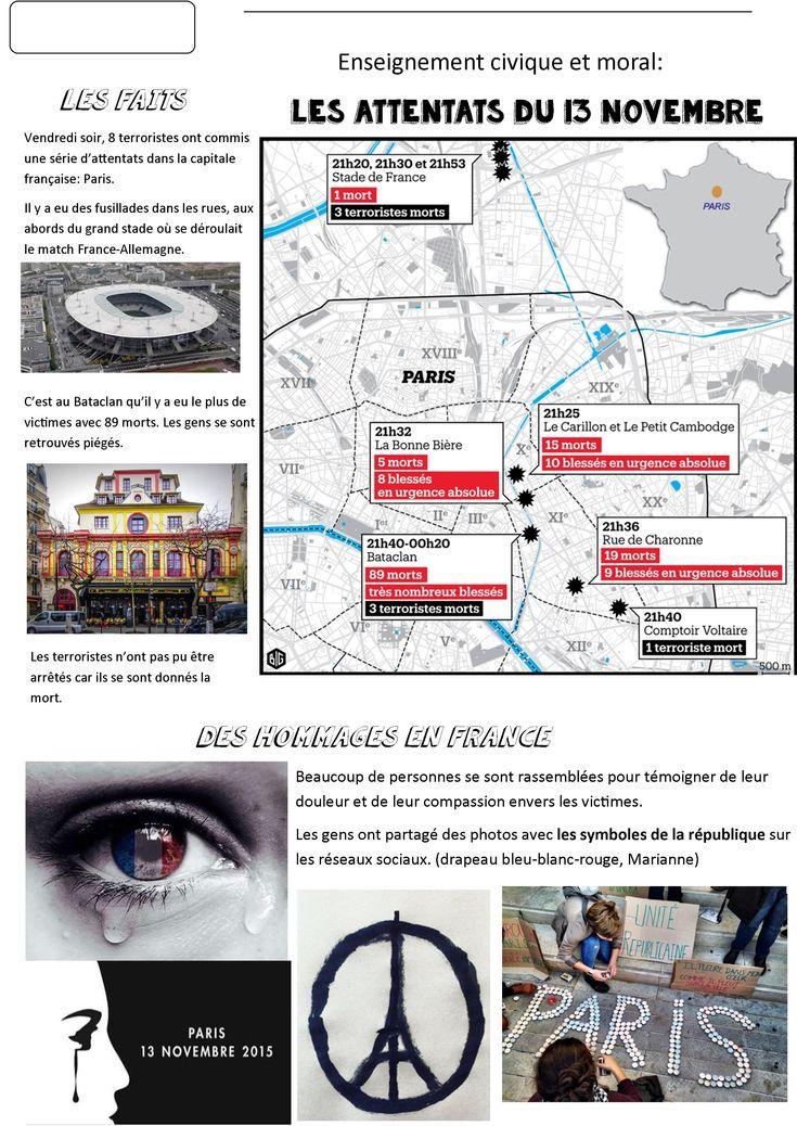 Pour Parler des attentats de vendredi 13 novembre | BLOG GS CP CE1 CE2 de Monsieur Mathieu JEUX et RESSOURCES