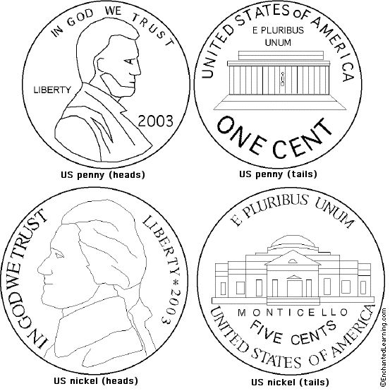 coins coloring pages - photo#11