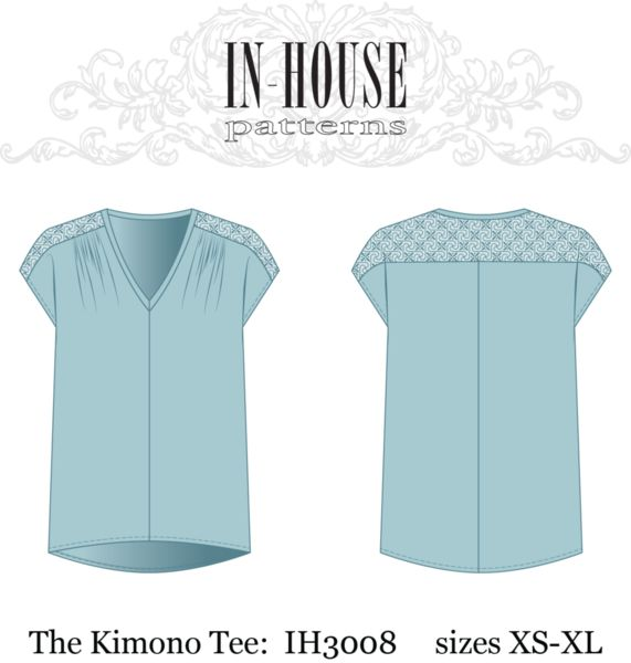 Kimono Tee PDF downloadable sewing pattern. Really like this one too.