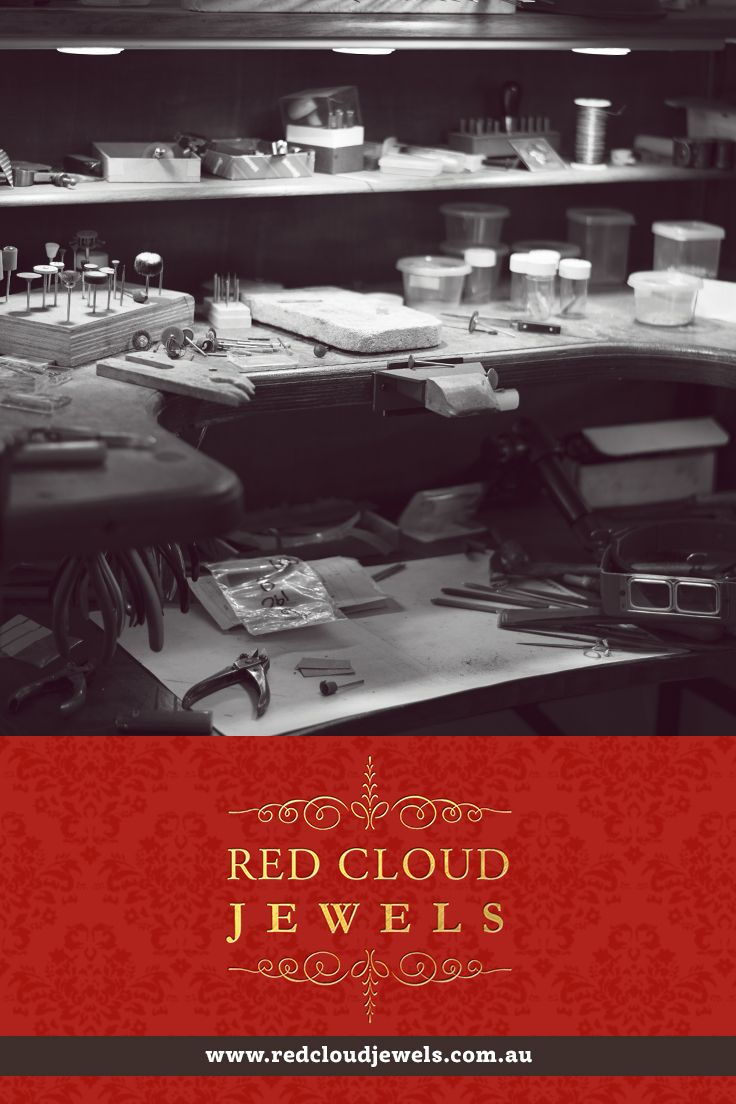 Our workbench. Red Cloud Jewels - Outstanding Jewellery for Outstanding Individuals | www.redcloudjewels.com.au
