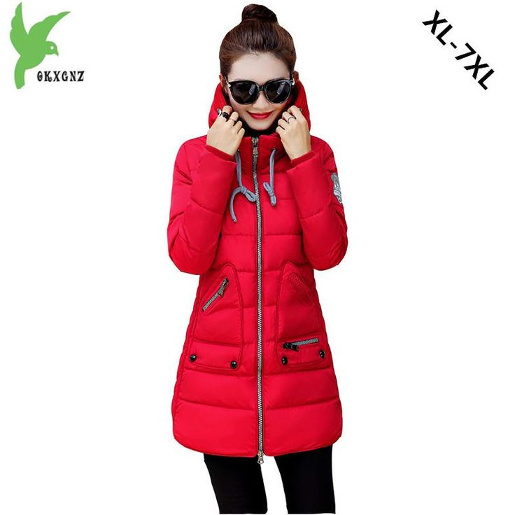 Plus Size Women Down Cotton Jacket 2017 Winter Fashion Solid Color Hooded Thick Warm Fat MM Casual Coat 100KG Can Wear OKXGNZ900  #beauty #fashionista #streetstyle #sweet #stylish #styles #dress #ootd #iwant #fashion