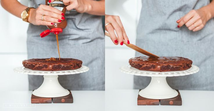 Making of chocolate pie