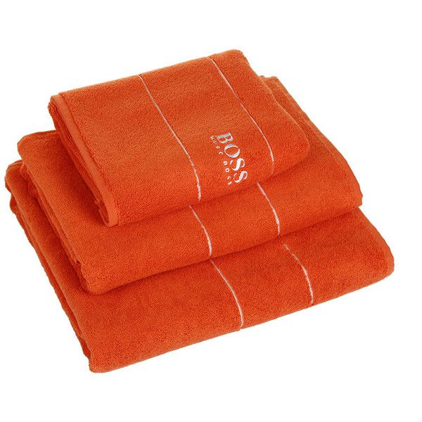 Hugo Boss Plain Tangerine Towel - Bath Sheet ($85) ❤ liked on Polyvore featuring home, bed & bath, bath, bath towels, orange, hugo, orange bath towels, egyptian cotton bath towels and egyptian cotton bath sheets