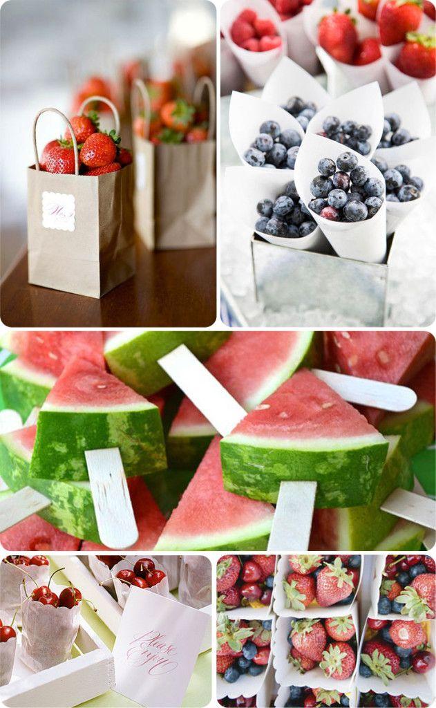 Resfrescante fruta en tu Boda #boda #ideas #inspiración