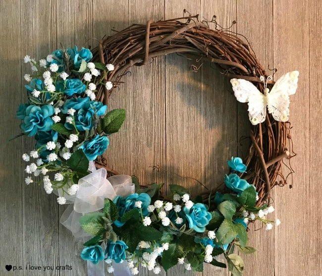 spring grapevine wreath idea