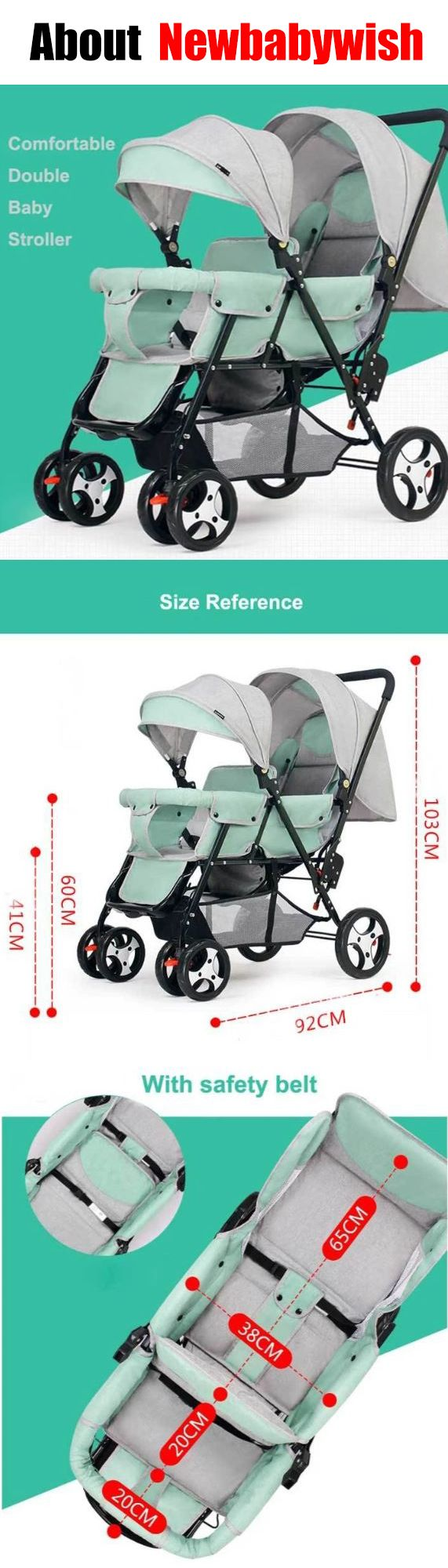 Double Jogging Stroller in 2020 Double jogging stroller