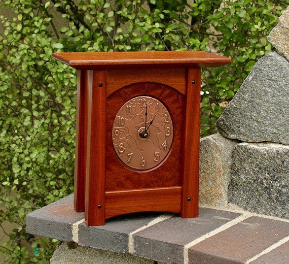 Top 25 ideas about clocks on pinterest copper for Arts and crafts mantle clock