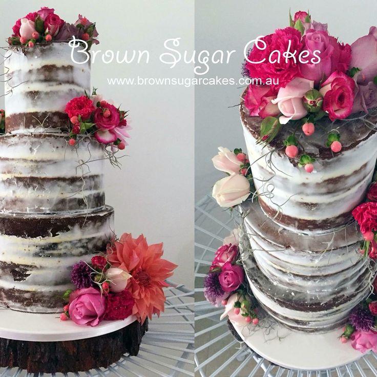 Summer flowers caramel mud cake makes cake