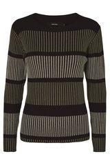Vero Moda - gestreept ribstof pullover