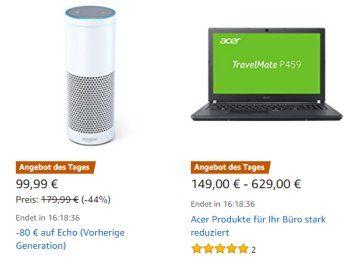 Acer: Notebooks und Monitore für einen Tag mit Rabatt https://www.discountfan.de/artikel/technik_und_haushalt/acer-notebooks-und-monitore-fuer-einen-tag-mit-rabatt.php Bei Amazon sind jetzt für einen Tag Notebooks und Monitore von Acer mit Rabatt zu haben. Der Versand erfolgt frei Haus. Acer: Notebooks und Monitore für einen Tag mit Rabatt (Bild: Amazon.de) Die Acer-Produkte mit Rabatt sind nur am heutigen Montag im Angebot, solange Vorrat reicht. Discountfans... #Monit