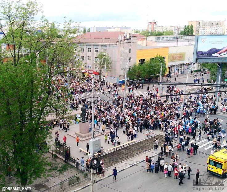 «Бессмертный полк» в Саратове на улице Московской      #Саратов #СаратовLife