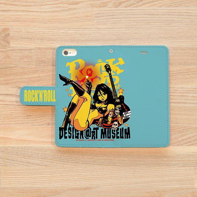 『DESIGN@RT MUSEUM / KENTOO』(iPhoneケースOUTSIDE)   石川県を拠点にイラスト制作、キャラクターデザインなど幅広く活動。DO THE POP!をテーマにロックテイスト、アメリカンなイラストを手掛けるクリエイター『KENTOO』。 「ロックンロール天使の休日の1コマを表現しました。」とのこと。