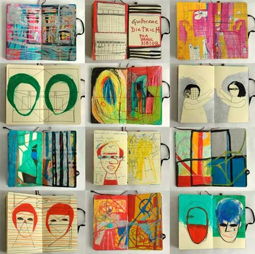 Guilherme Dietrich sketchbook pages