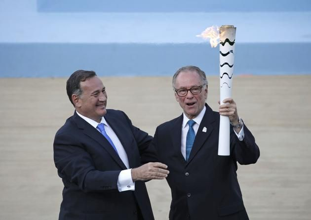 Rio 2016: Olympic Flame Handed over to Brazilian Authorities