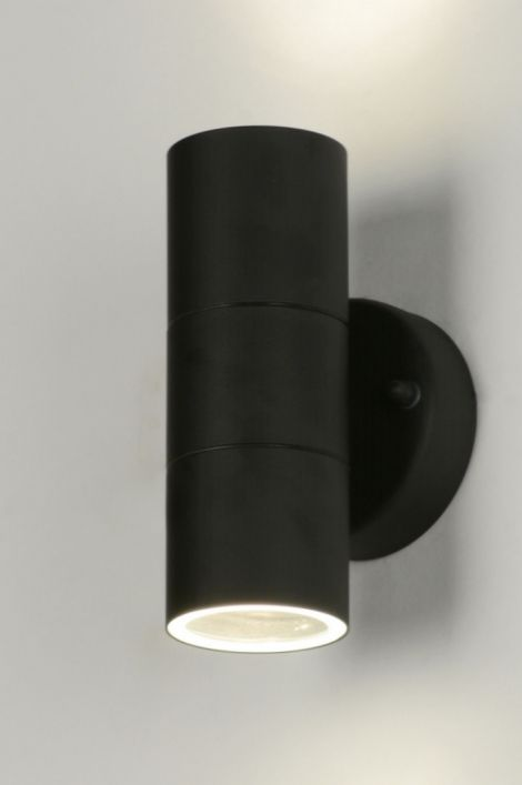 wandlamp 71571: modern, metaal, zwart, mat