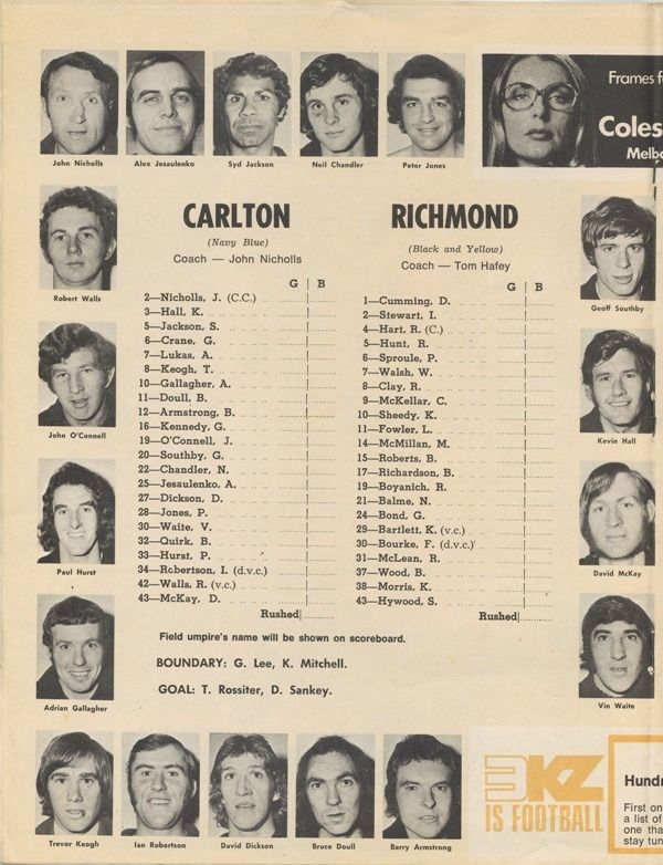 1972 Grand Final : Blueseum - Online Carlton Football Club Museum