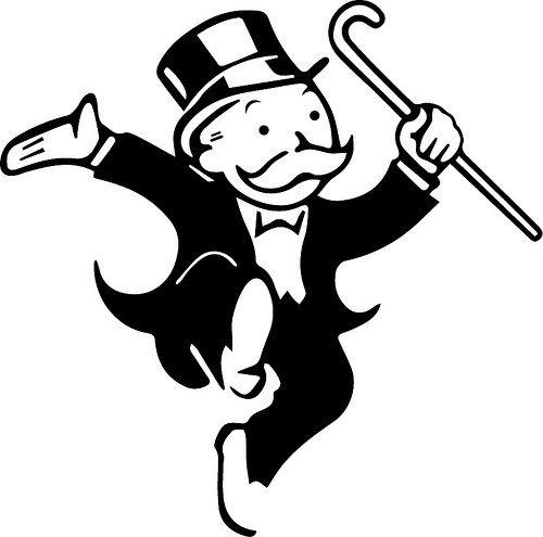 FREE SVG  Monopoly dancing man