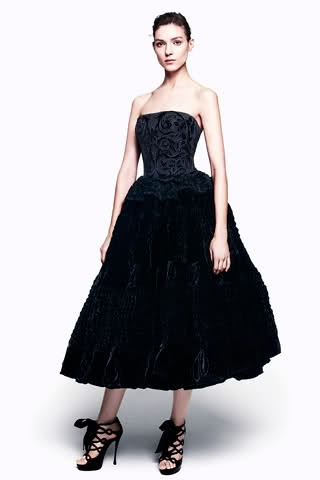 Alexander McQueen Pre-Fall 2012 Collection. Statement piece.: Near Fal 2012, Alexander Mcqueen, Prefal 2012, Mcqueen Pre Fal, Mcqueen Prefal, Strapless Velvet, Alexandermcqueen, Velvet Gowns, The Dresses