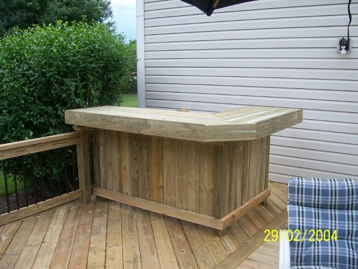 Cedar decks wood decks gazebos screen porches sun for Wood outdoor bar ideas