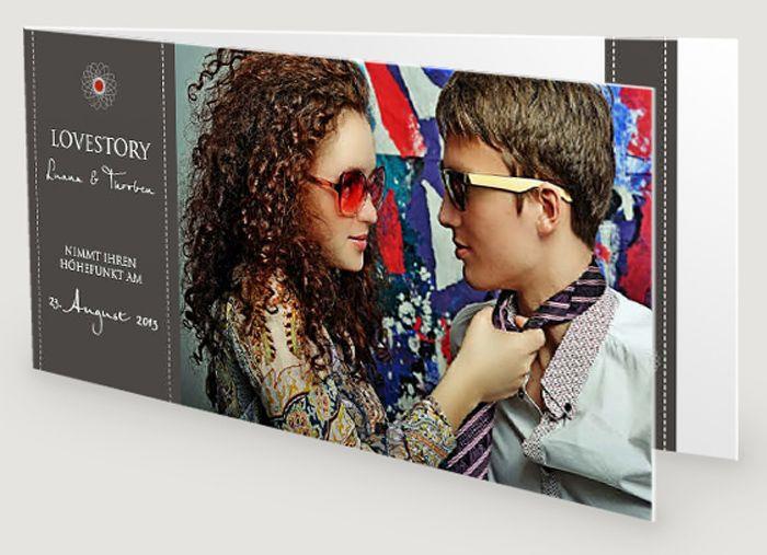 Entdeckt tolle Hochzeitseinladungskarten mit Foto in unserer großen Einladungskarten-Bildergalerie - von kreativ bis lustig, von klassisch bis modern.