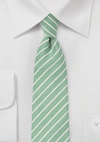 Skinny Linen Tie in Summer Green | Bows-N-Ties.com