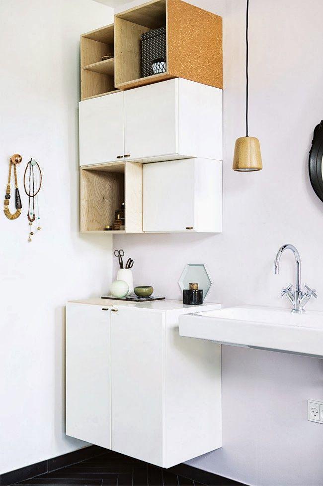 la petite fabrique de rves black white une salle de bain scandinave trs - Salle De Bain Scandinave Chic