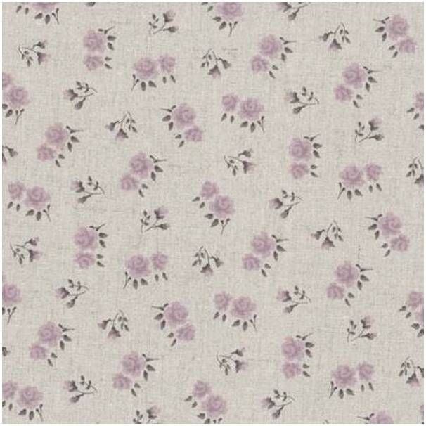 Lin Shabby Chic Roses/ Parme Réf 114