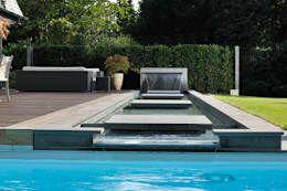 Blick auf den gesamten Wasserlauf: ausgefallener Garten von Hesselbach GmbH