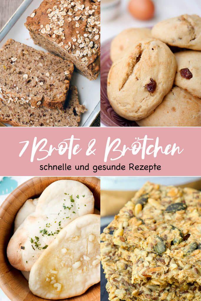 7 schnelle und gesunde Brötchen & Brotrezepte zum Frühstück