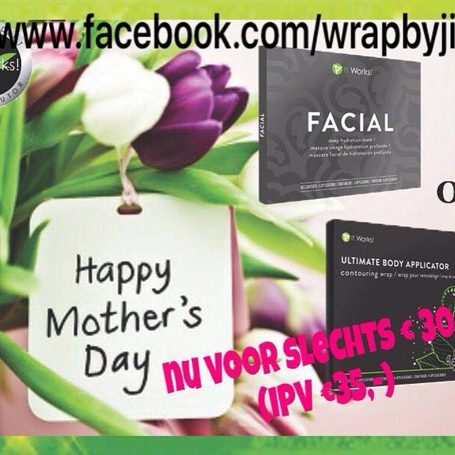 https://www.facebook.com/wrapbyjitka/#moedrdag #mothersday #bodywrap #bodywraps #facial #itworksadventure #CrazyWrapThingTe Bestellen via prive bericht: https://www.facebook.com/wrapbyjitka/   of jitkaswrap@gmail.com
