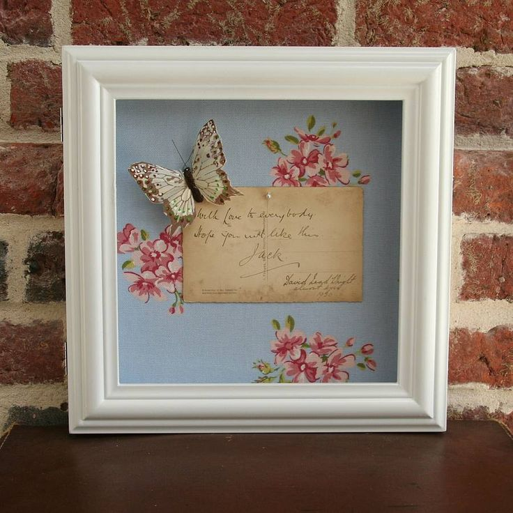 floral shadow box frame by sweet william designs | notonthehighstreet.com