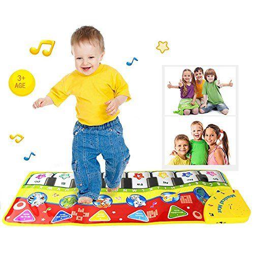 Pawaca Touch Play clavier, musique Chant Gym de tapis Moquette pour bébé clavier de piano Tapis de sol Moquette Drôles d'éveil pour enfants…