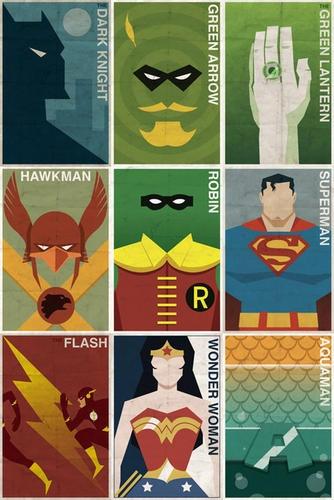 Vintage DC Superhero Posters | LUUUX