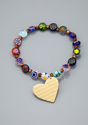 MERCEDES SALAZAR Glass Bead Corazon Bracelet