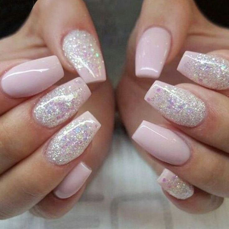 Christmas Maintenance Ombre Nails Glitter Fake Nails Acrylic