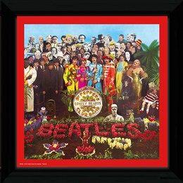 Framed Album Cover: The Beatles - Sgt. Pepper