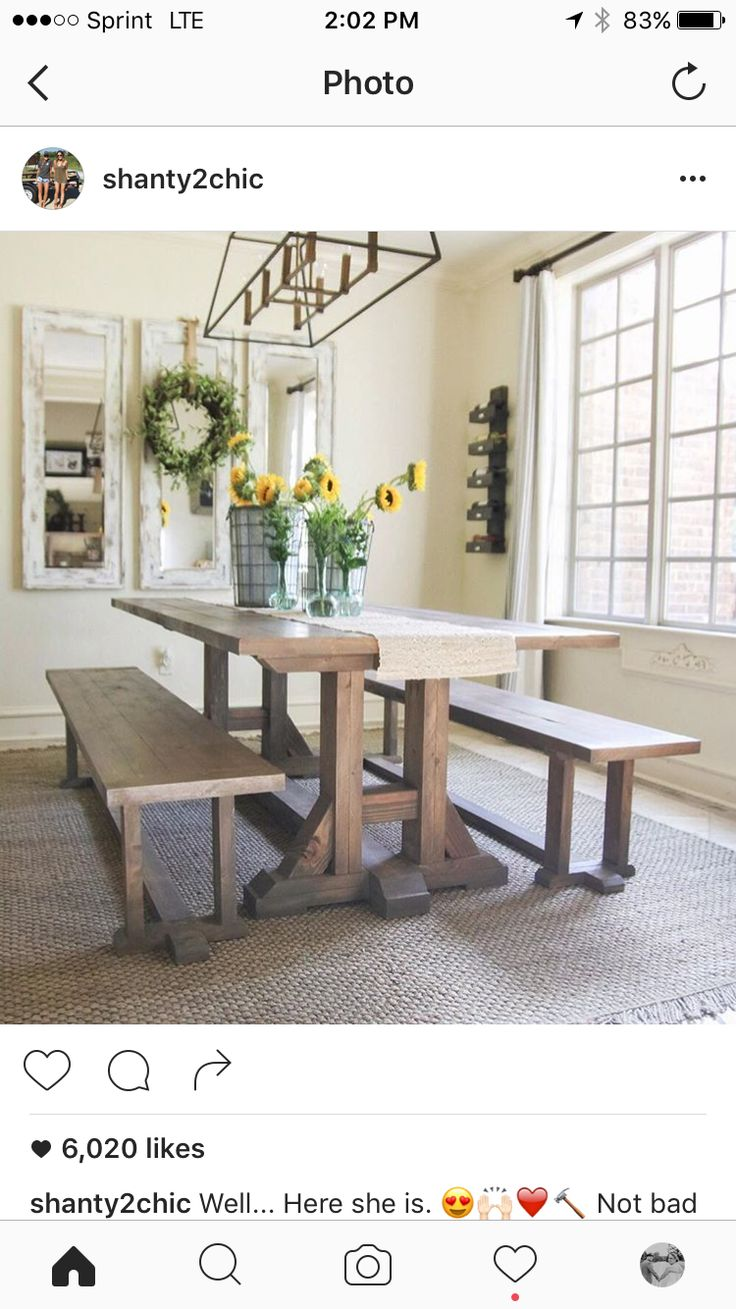260 best dining room images on pinterest farm tables dining free furniture plans diy dining table farmhouse style by