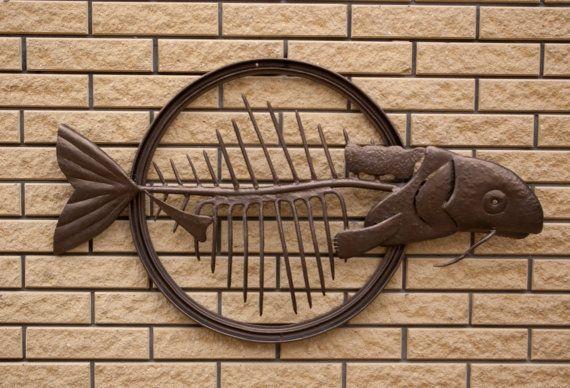 Рыба Сом/Металлический  декор/Рыба из от KrainaHandmade на Etsy