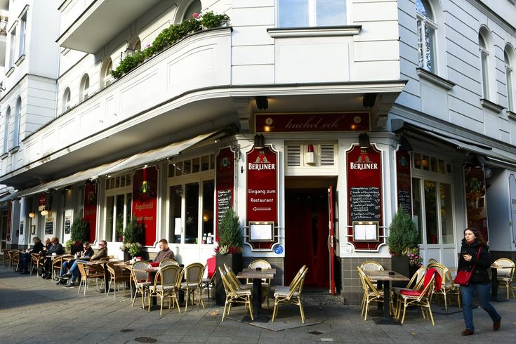 A corner cafe at the edge of City West's Ludwigkirchplatz, one of the area's prime residential squares.
