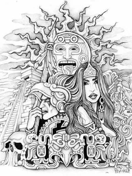 91 best Xochiquetzal images on Pinterest | Maya, Aztec art ...