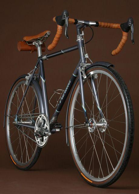 Vanilla Bicycles custom-made commuter bike.  Love.    http://vanillabicycles.com/frames/commuter/6/