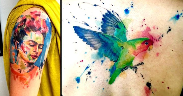 unique Watercolor tattoo - 2017 trend Watercolor tattoo - Abstract Watercolor Tattoos By Emrah de Lausbub C...