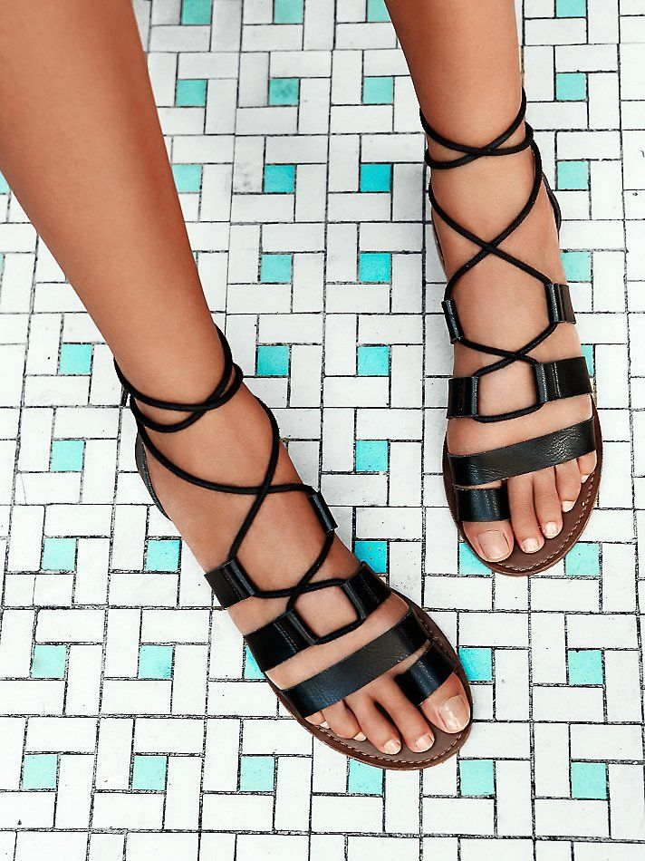 faryl robin + Free People Vegan Maddie Tie Up Sandal at Free People Clothing Boutique
