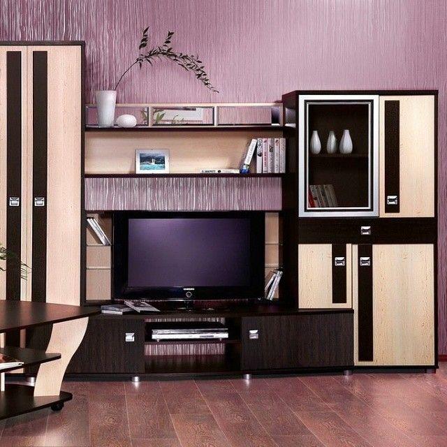 Корпусная мебель для гостиной: 20 фото