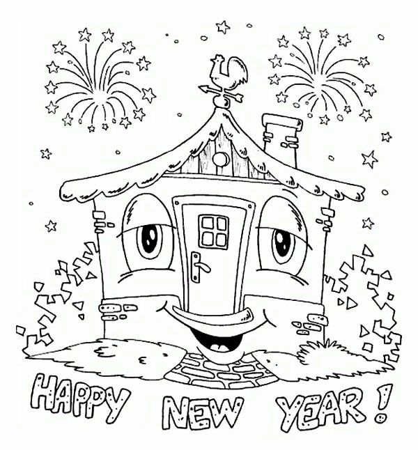 Printable New Years Coloring Pages Luxury A Happy New Years Party In The House Coloring Page New Year Coloring Pages Coloring Pages Free Coloring Pages