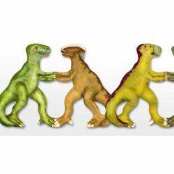 Little Boo-Teek - Clocks, Lighting & Decor Papercat Paper Dolls Bunting - Dinosaur $11.95  www.littlebooteek.com.au #littlebooteek #presents #kids #baby